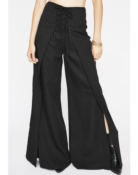 Serve N' Swerve Split Leg Pants