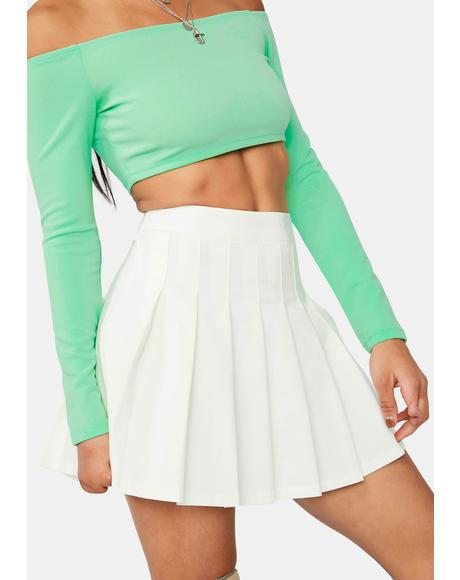 Make It Clear Pleated Mini Skirt