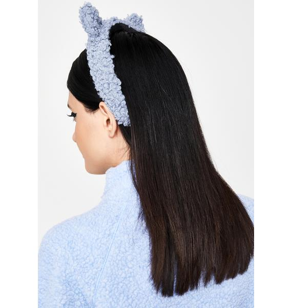 Sky Teddy Time Fuzzy Headband