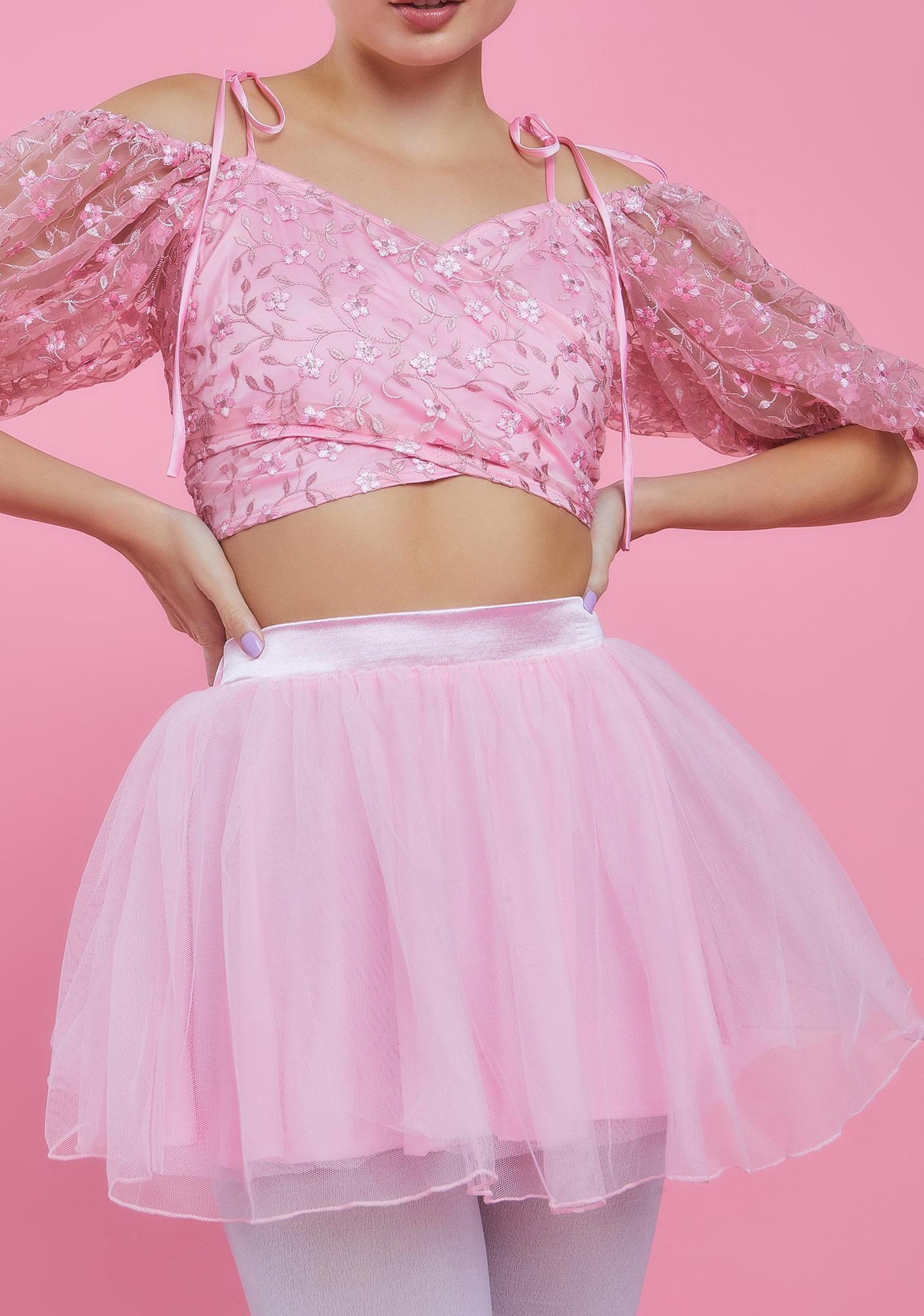 Sugar Thrillz Got Your Attention Tulle Skirt