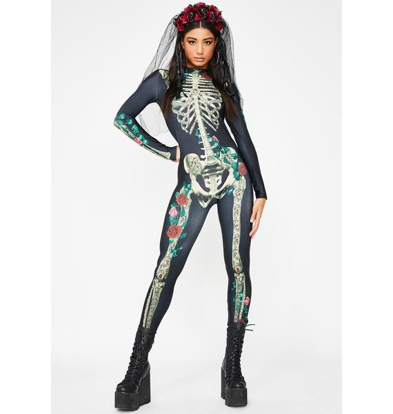 Dolls Kill Sweet Deathly Tribute Catsuit