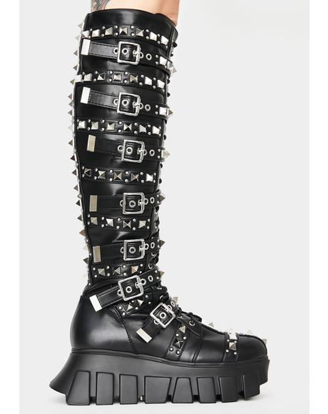 Extreme Gladiator Knee High Boots