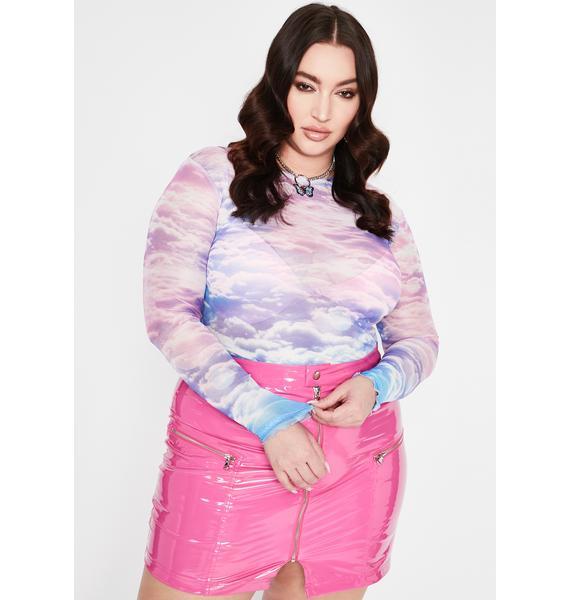 HOROSCOPEZ She's The Real Deal Vinyl Skirt