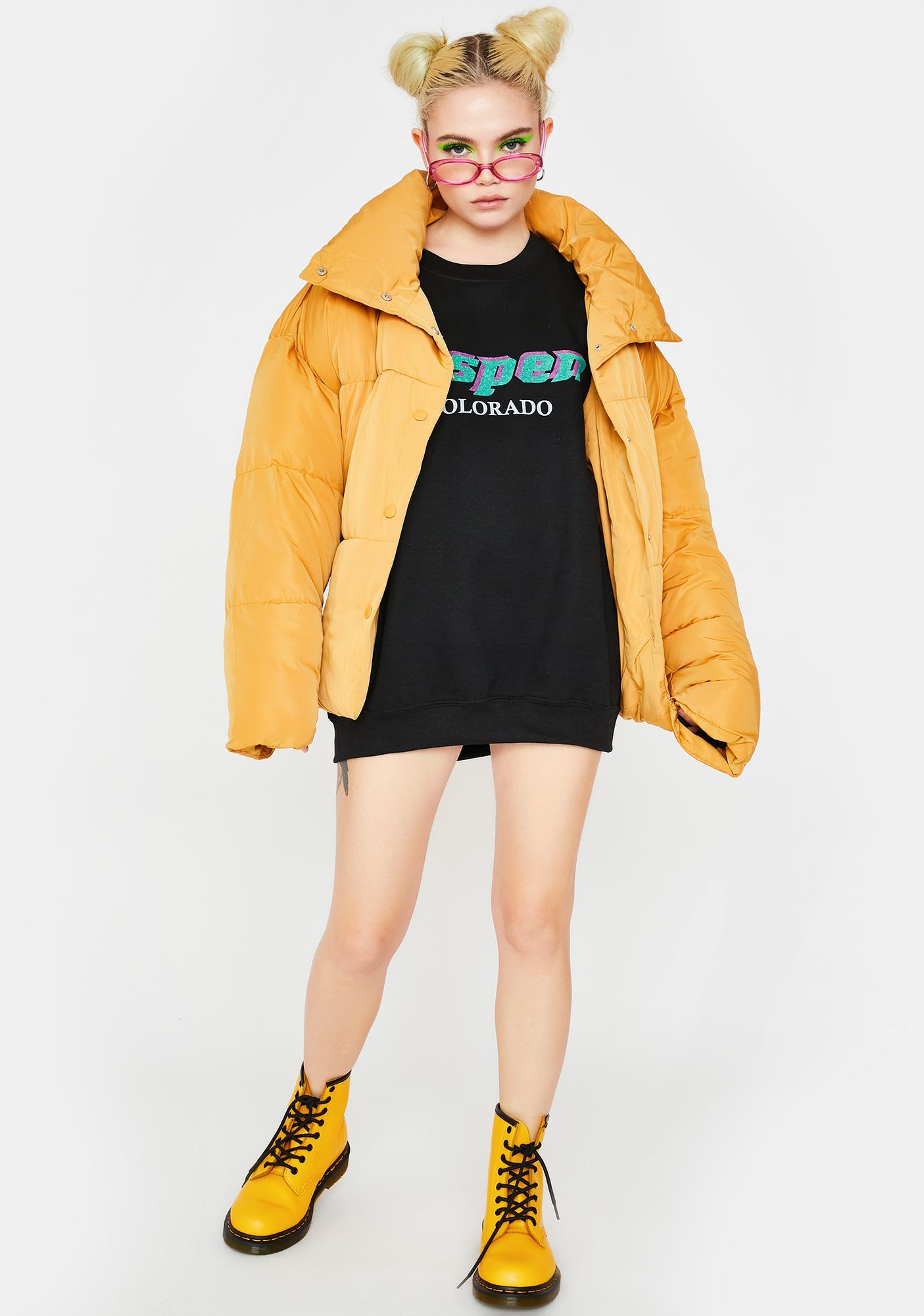 Daisy Street Aspen Oversized Crewneck Sweater