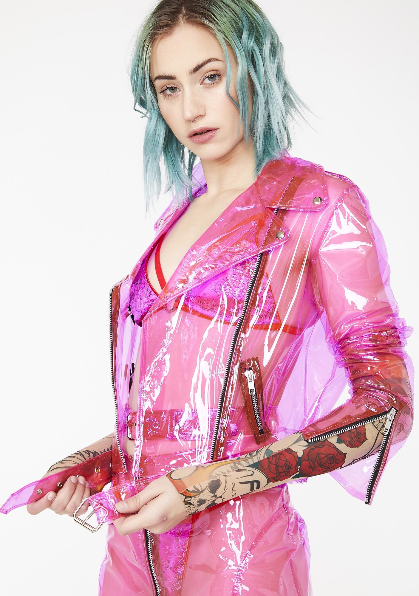 Strange Couture Rubber Soul Biker Jacket