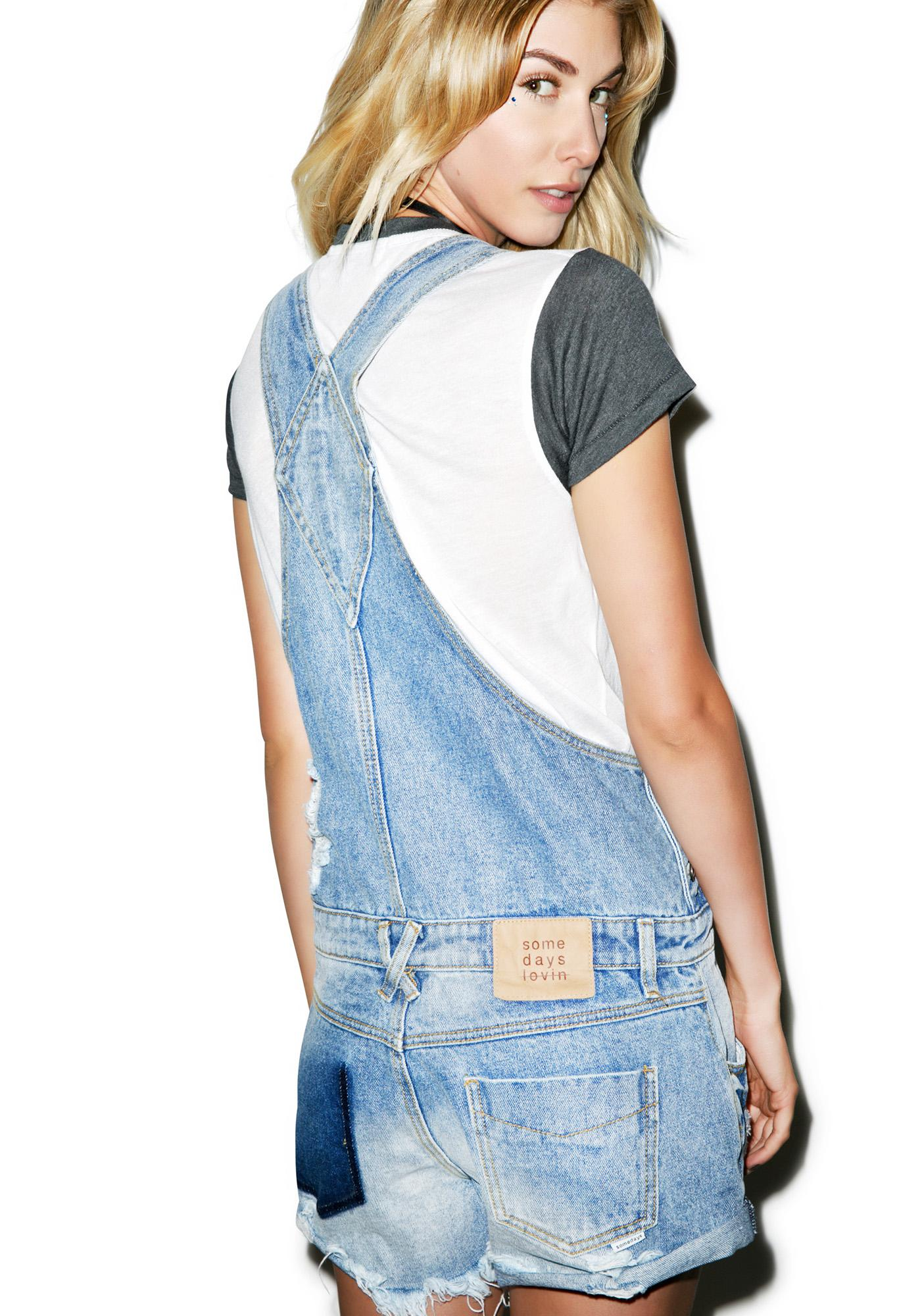 Somedays Lovin Jojo Rigid Denim Overalls
