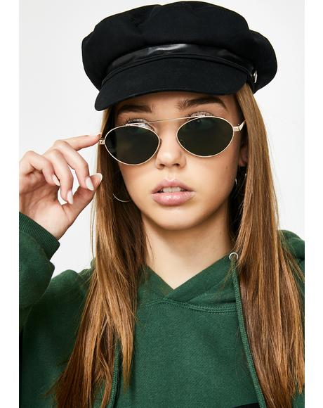 Lowkey Lover Oval Sunglasses