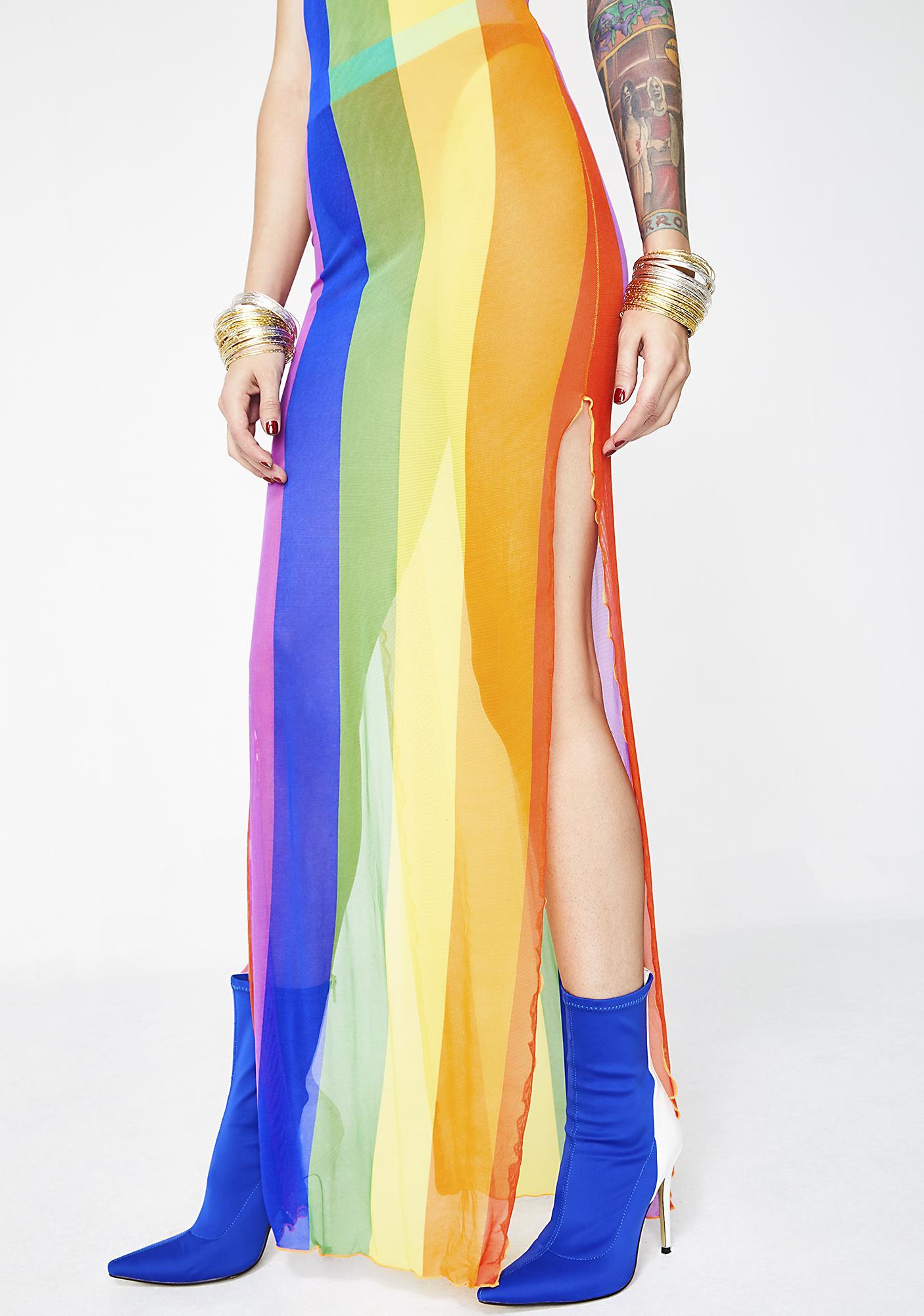 Current Mood Color Ur World Maxi Dress