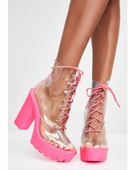 Harsh Truth Clear Booties