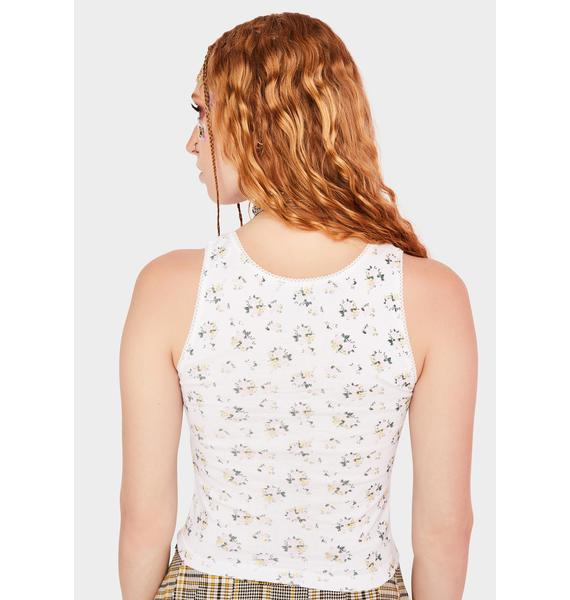 NEW GIRL ORDER Ditsy Butterfly Cami