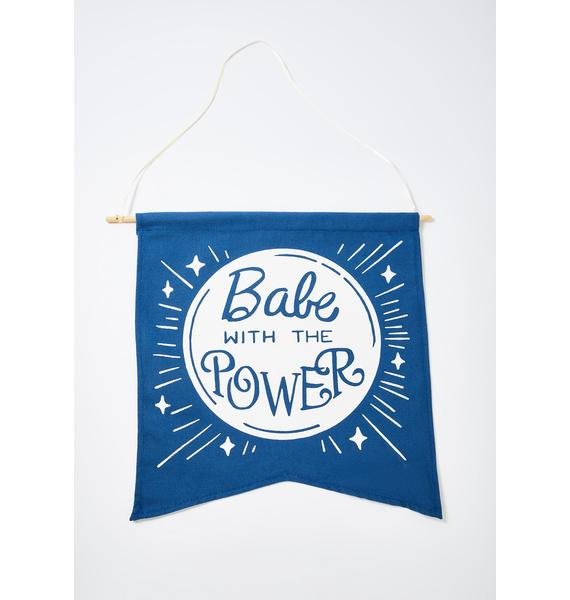 Femfetti Babe With The Power Hanging Wall Decor