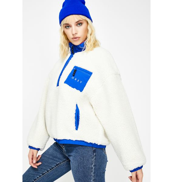 Obey White Chiller Sherpa Anorak