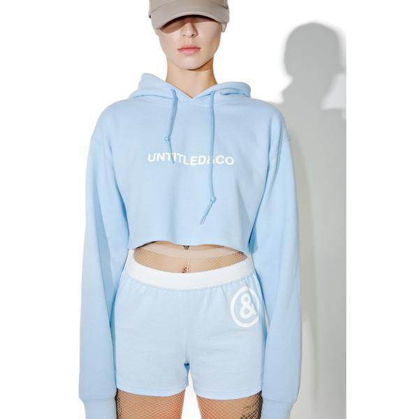 Untitled & Co Baby Blue Logo Shorts