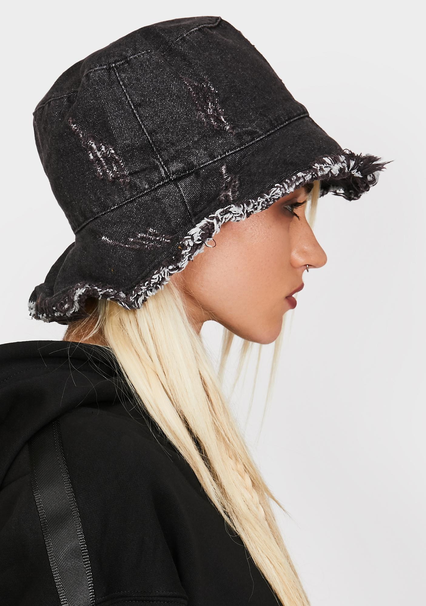 Late Pushing Limits Denim Bucket Hat