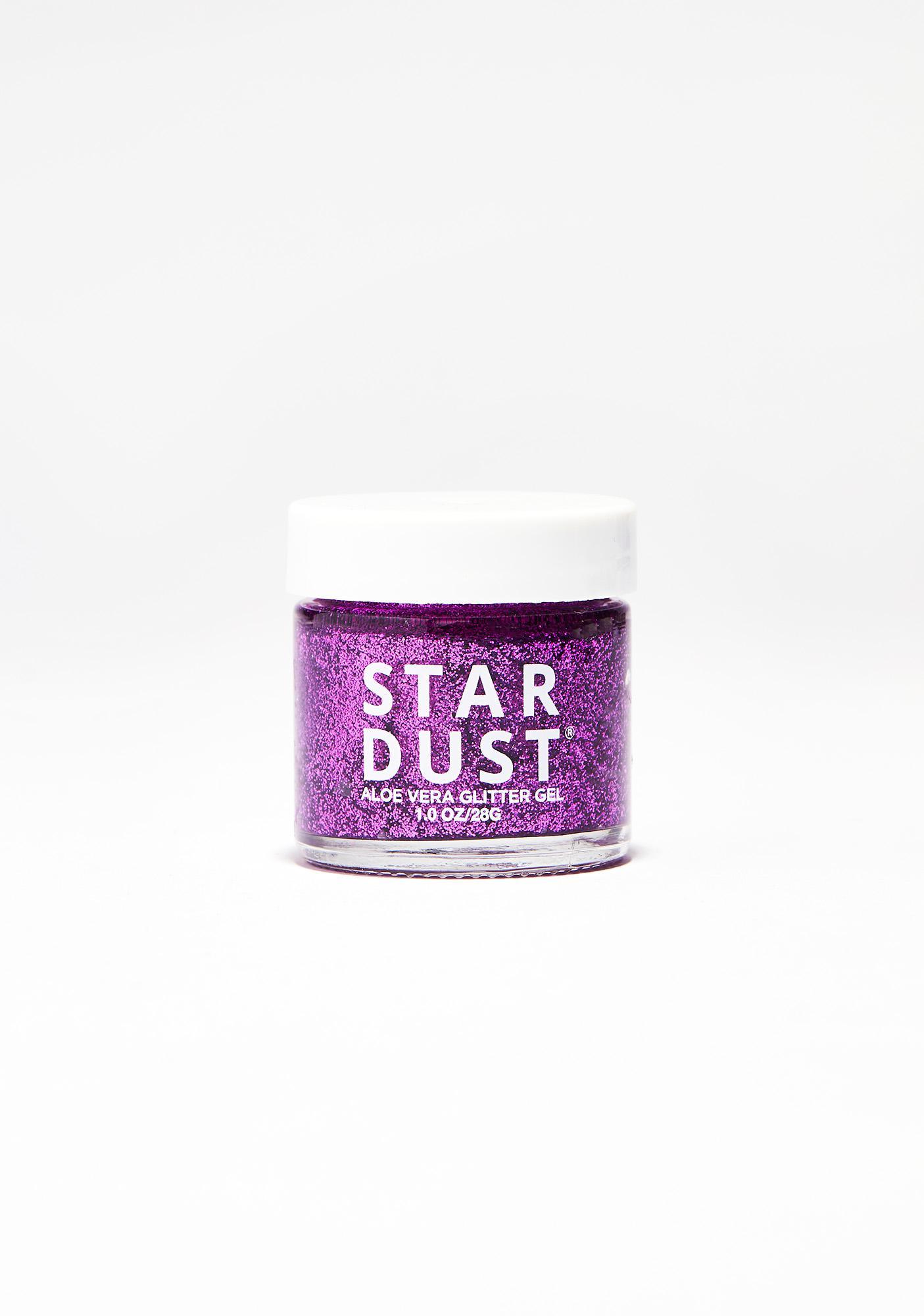Lavender Stardust Fuchsia Glitter Gel Pot