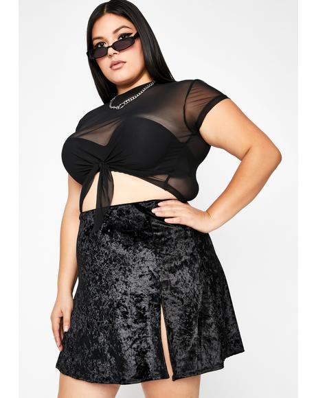 Night Crisis Mode Velvet Skirt