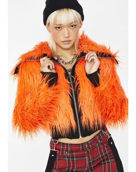 Vibrant Chaos Fuzzy Jacket