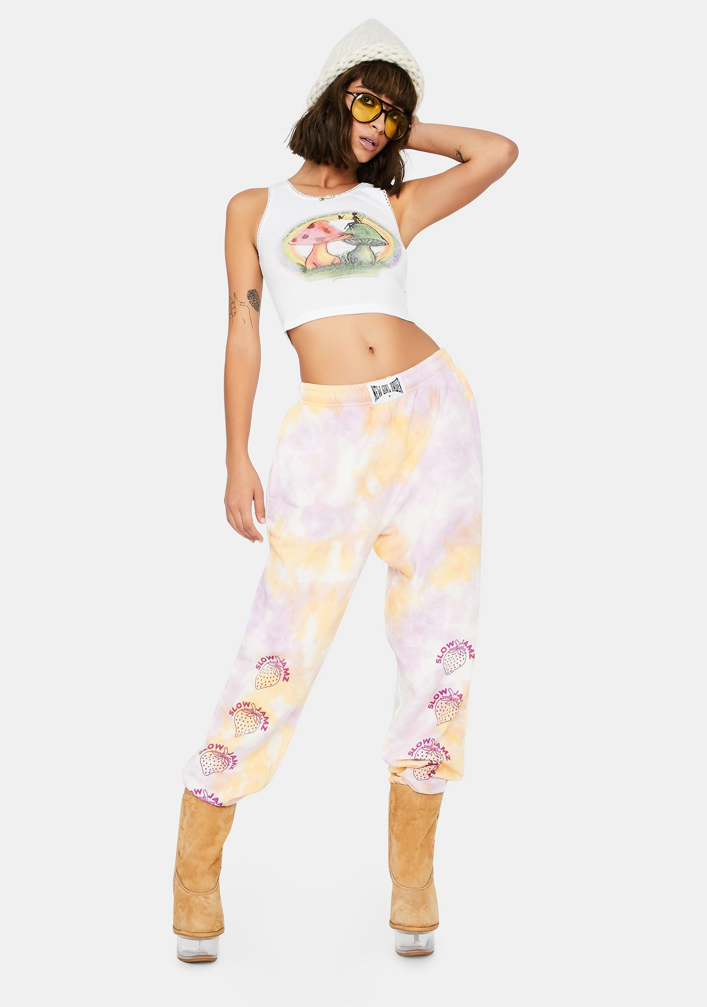 NEW GIRL ORDER Strawberry Tie Dye Joggers