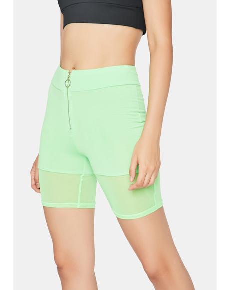 Kiwi You Better Work Biker Shorts