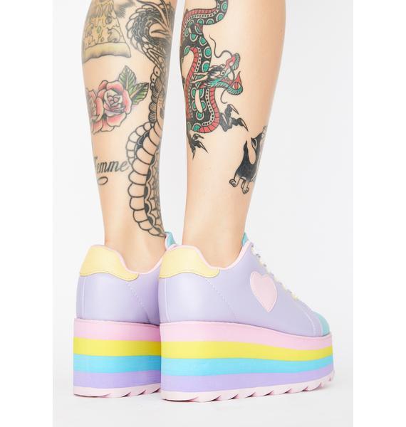 Y.R.U. Pastel Lala Platform Sneakers