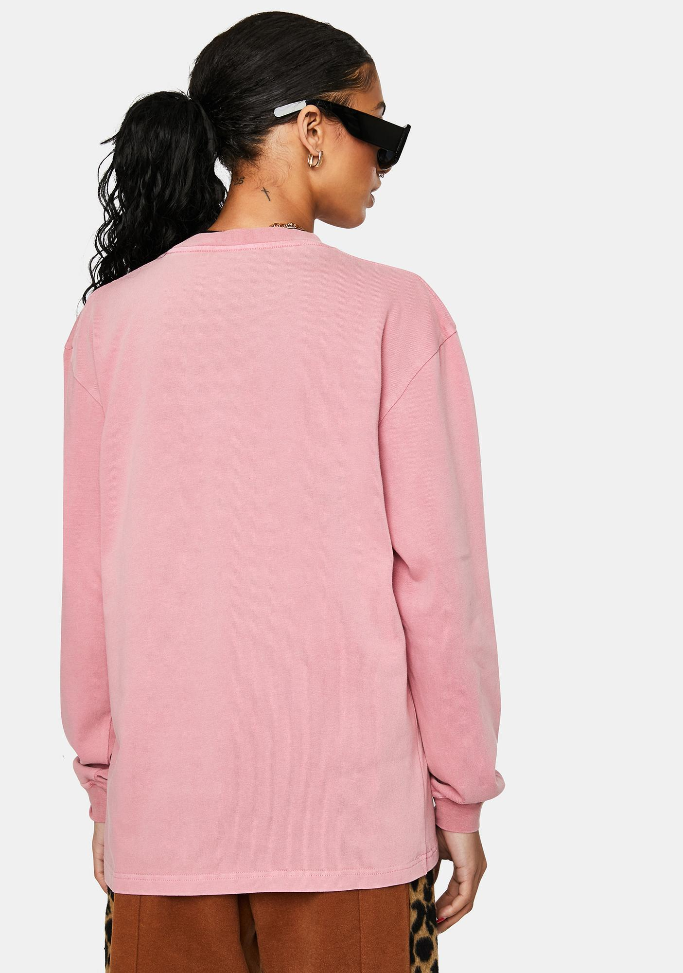 Pleasures Washed Pink Discovery Graphic Tee