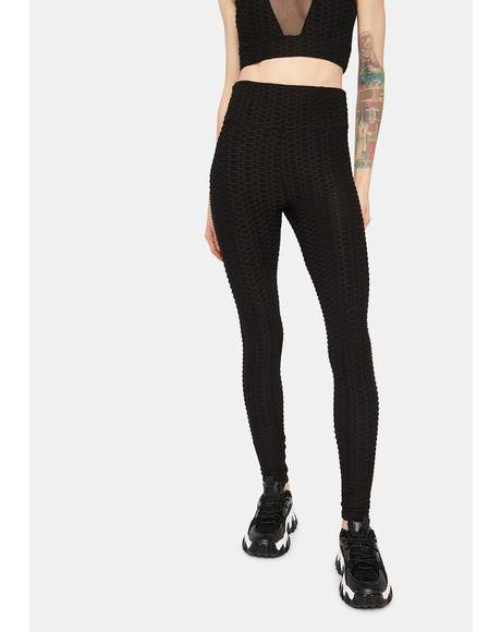 Night When I'm With You Textured Leggings