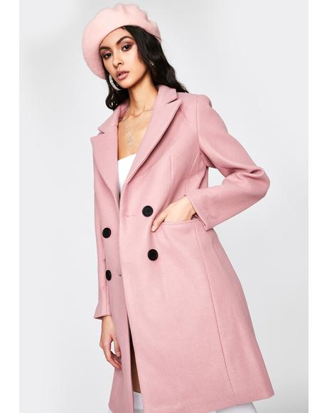 Champagne Rose Trench Coat
