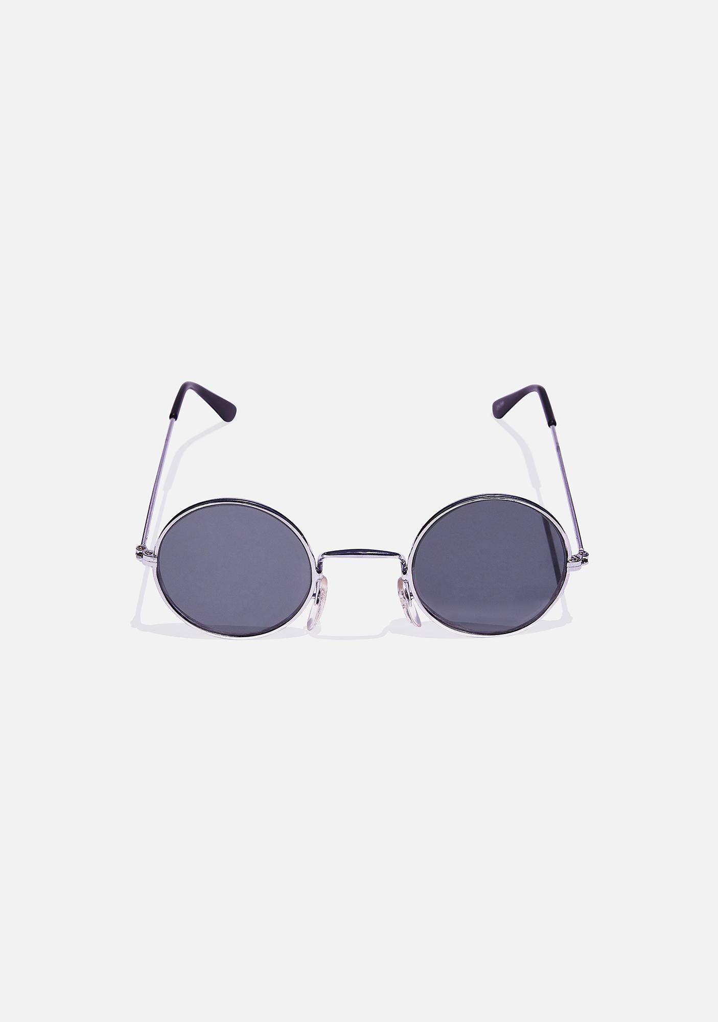 Good Times Eyewear Koala Hologram Round Sunglasses