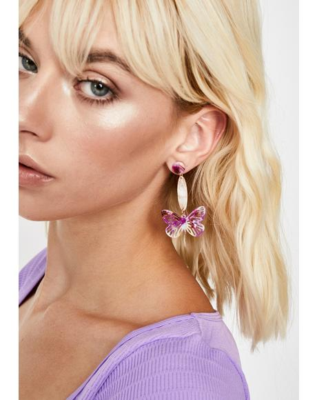 Flutterin' Flirt Drop Earrings