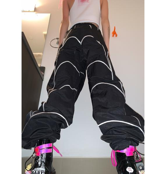 CHINATOWN MARKET Embroidered Web Track Pants
