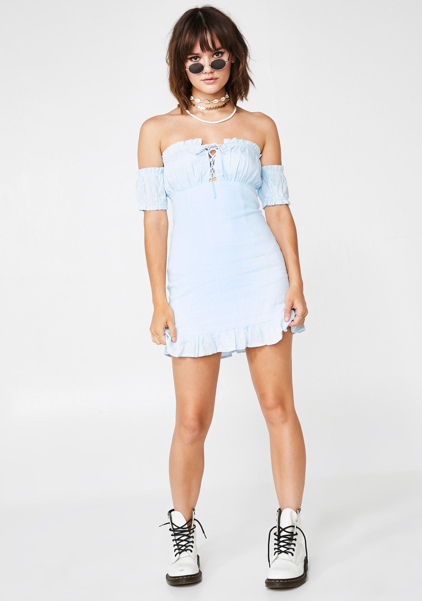 Bluebelle Lace-Up Sundress