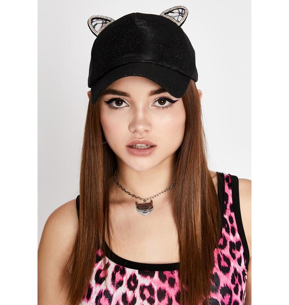 Night Kitty Player Baseball Cap
