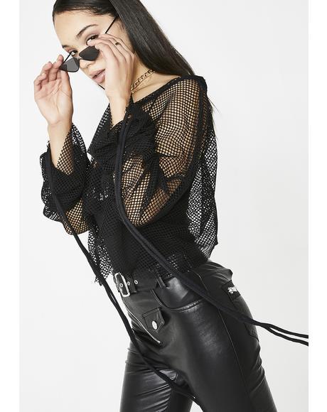Get It Right Mesh Blouse