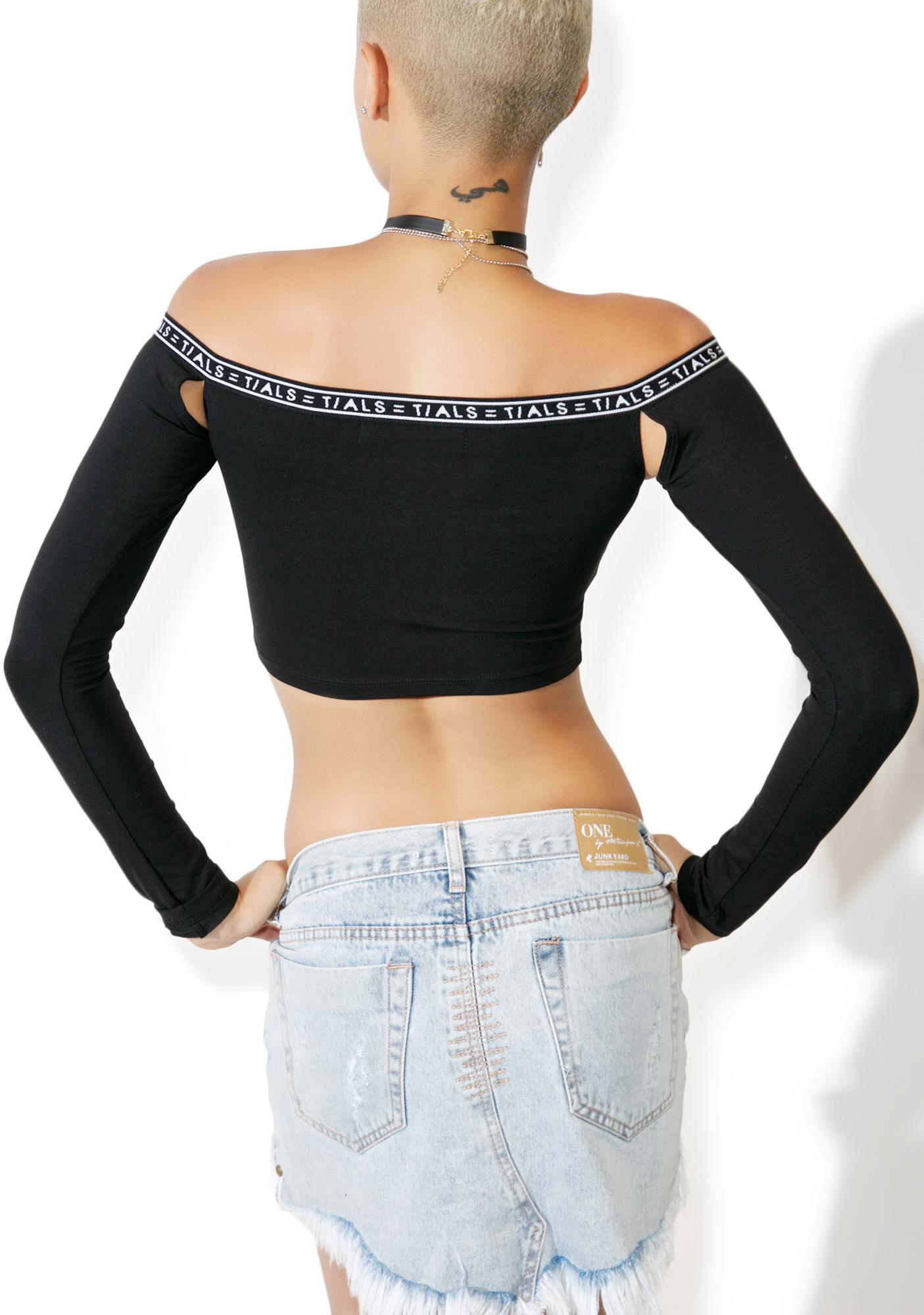 This Is A Love Song TIALS Long Sleeve Crop Top