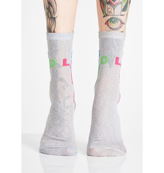 Gumball Poodle LSD Sparkle Sheer Socks