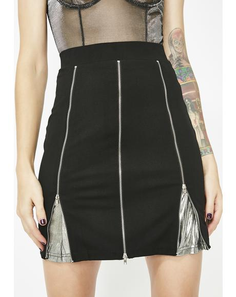 Lust For Luster Zip Mini Skirt