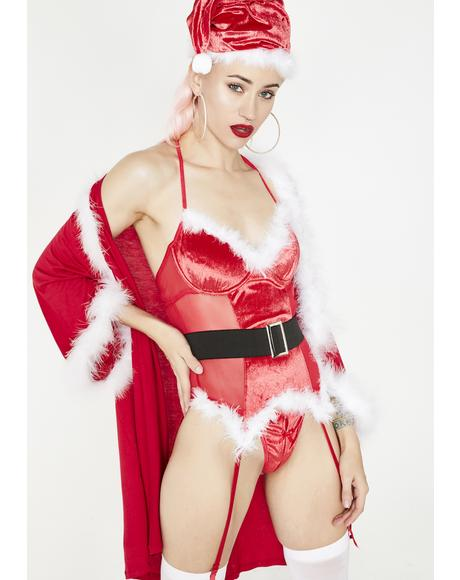 North Pole Hottie Bustier Set