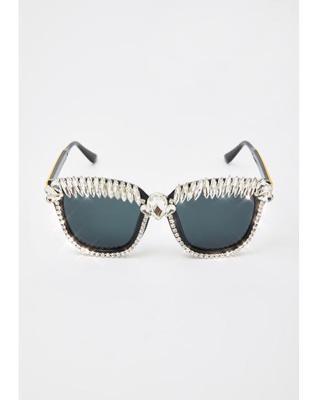 Diva Dazzle Rhinestone Sunglasses