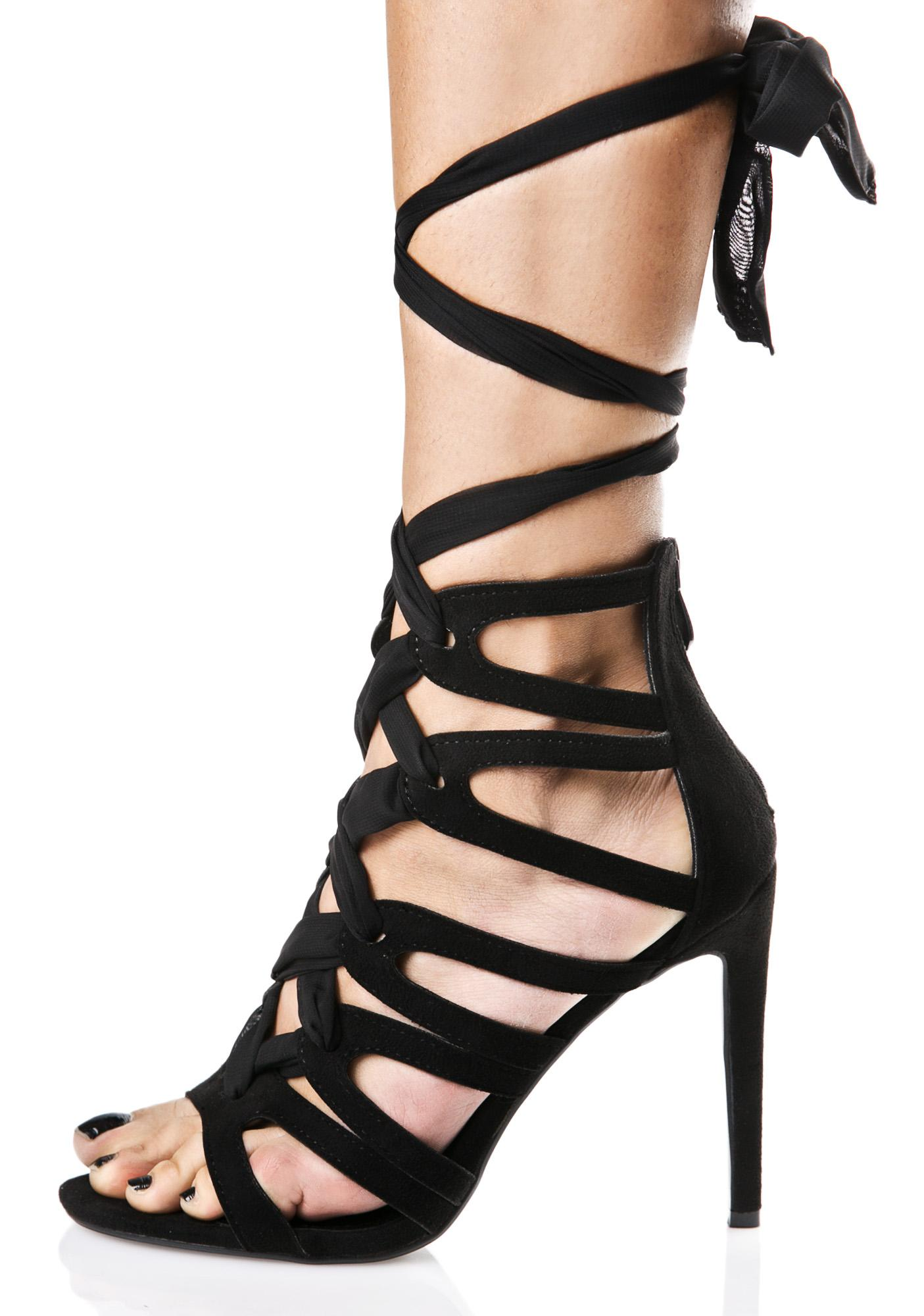 On The Verge Wrap Heels