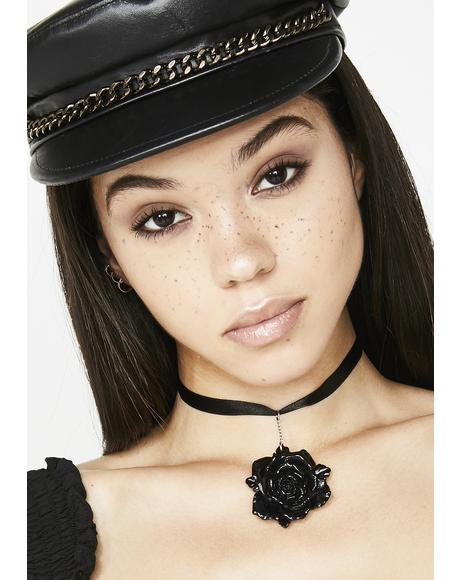 Black Beauty Rose Choker