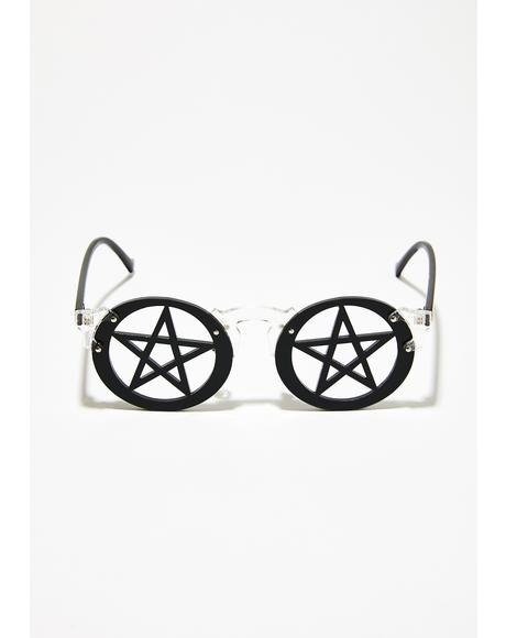 Witchy Views Pentagram Sunglasses