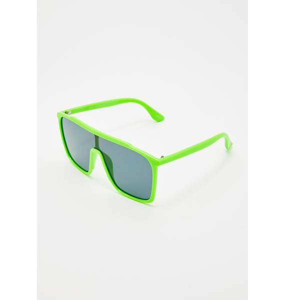 Sink Or Slime Shield Sunglasses