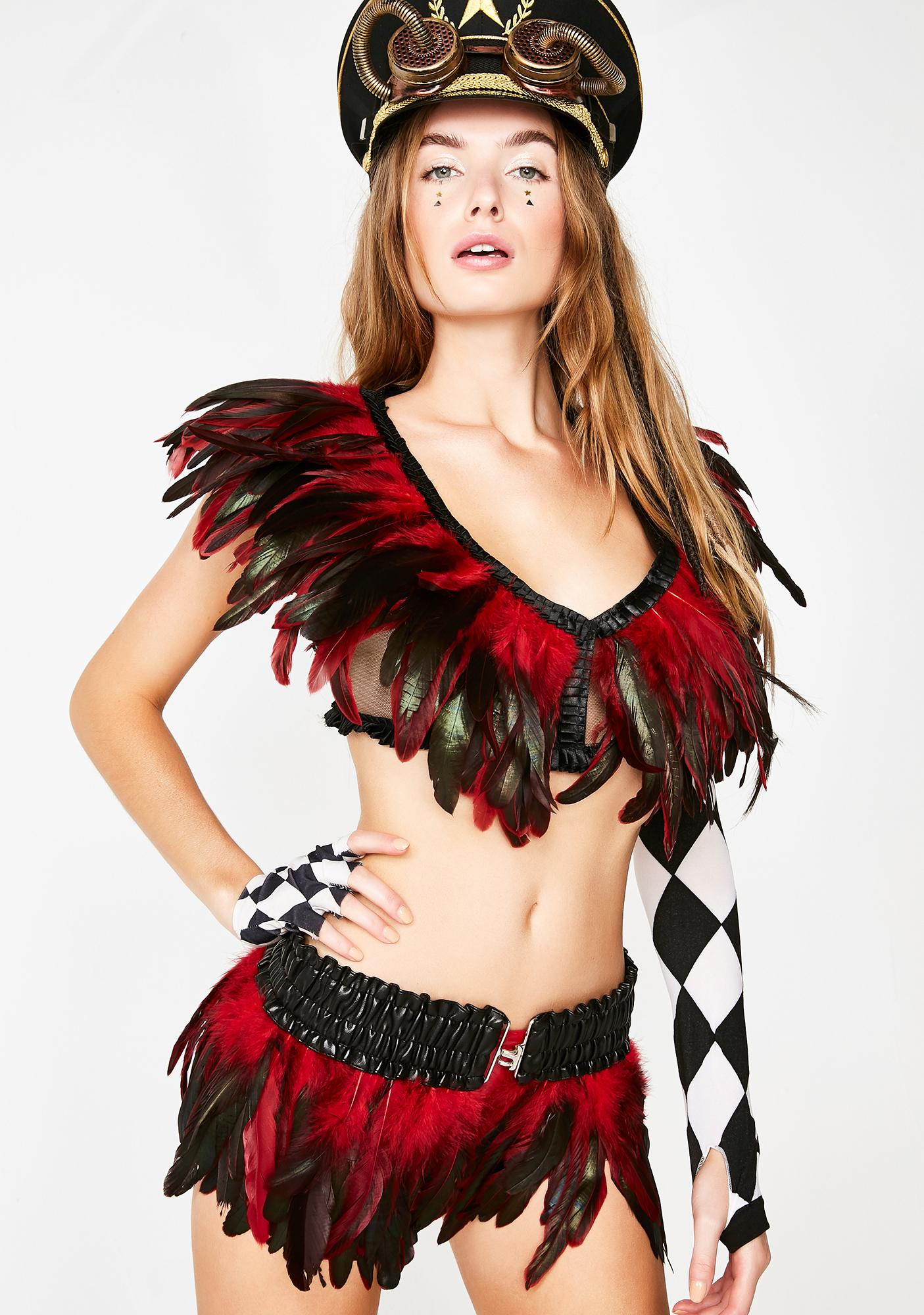 Voodoo Vixen Feather Skirt