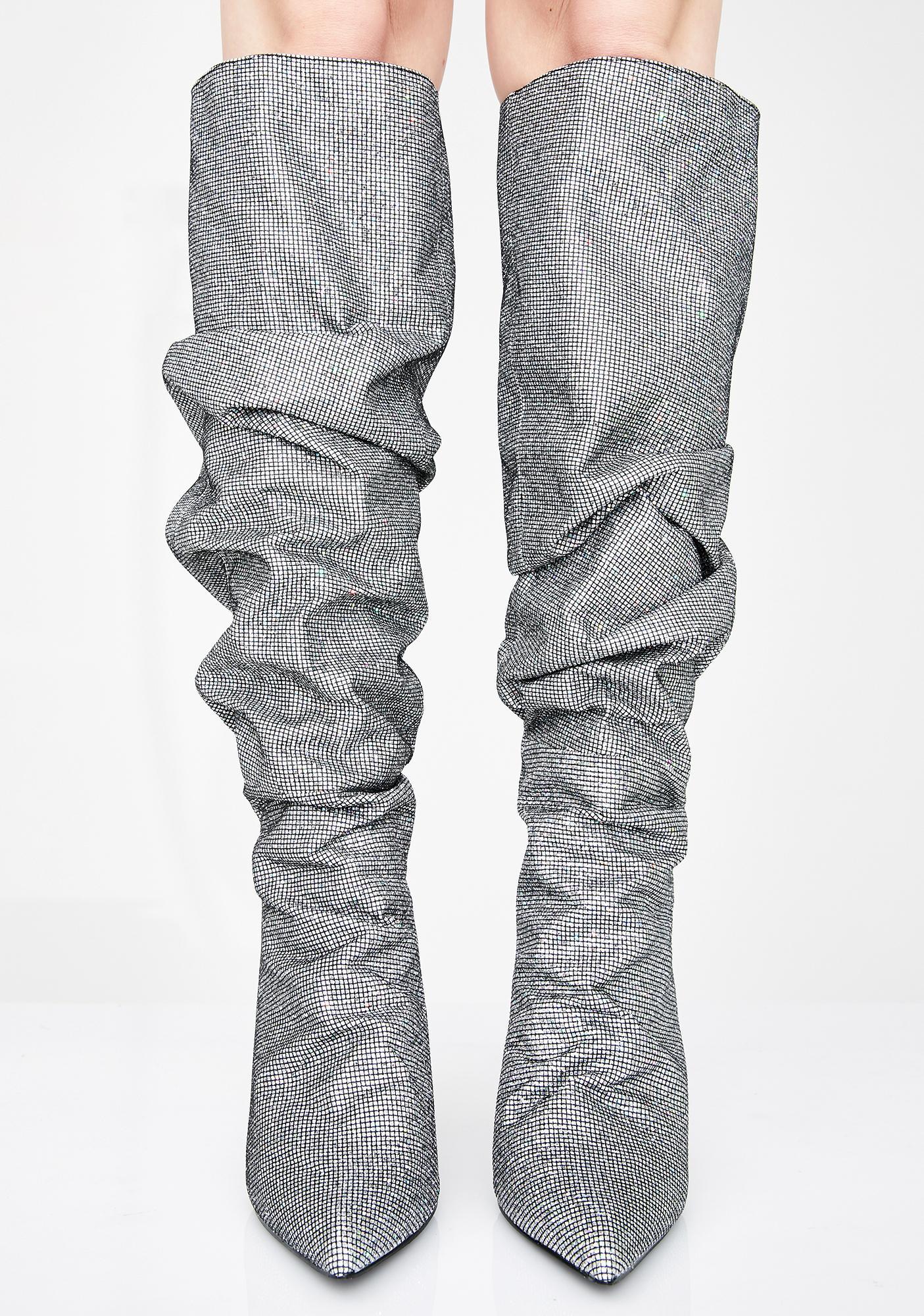 Pewter Stay Shinin' Scrunch Boots