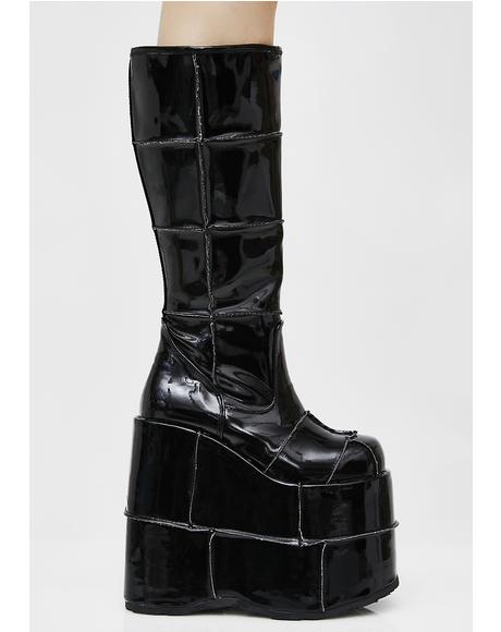 Patent Stack Platform Boots