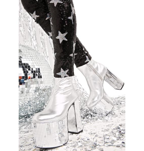 Current Mood Disco's Not Dead Platform Boots
