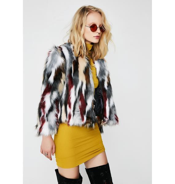 Wild Animal Fuzzy Jacket