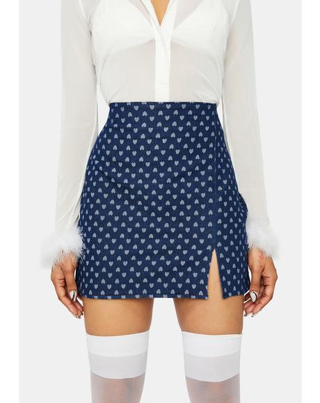 Through The Weekend Denim Skirt