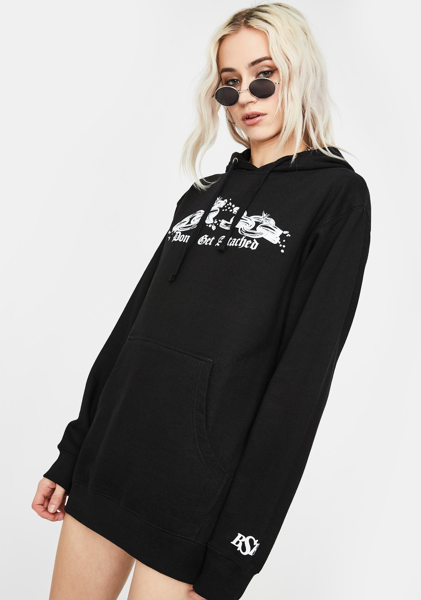 By Samii Ryan Black Attachments Graphic Hoodie