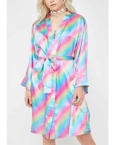 Sweet Dreams Satin Robe